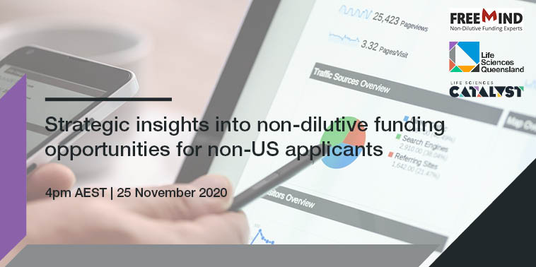 Strategic insights into non-dilutive funding opportunities for non-US applicants