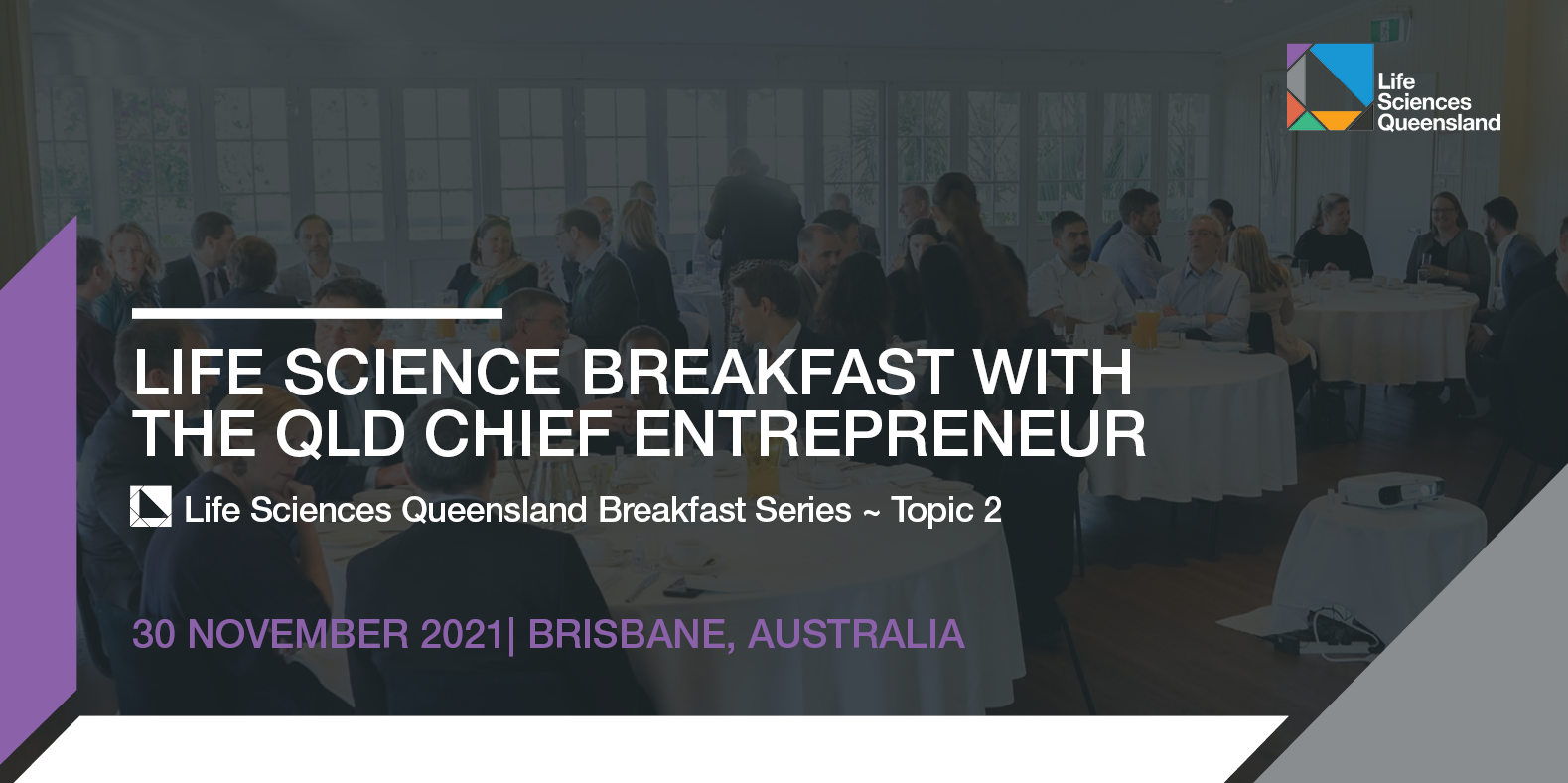 Life science breakfast with the QLD Chief Entrepreneur   LSQ Breakfast Series